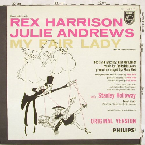 My Fair Lady: J.Andrews, R.Harrison, Philips(B 07245 L), NL,  - LP - A2749 - 4,00 Euro