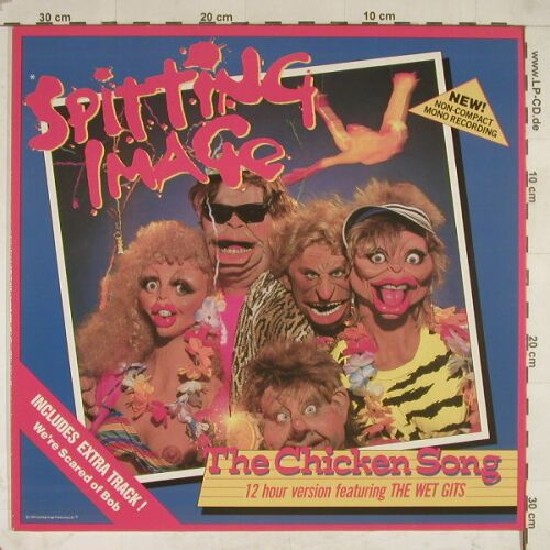 Spitting Image: Chicken Song+2, +Facts, Virgin(608 282-213), D, 86 - 12inch - A8746 - 5,00 Euro