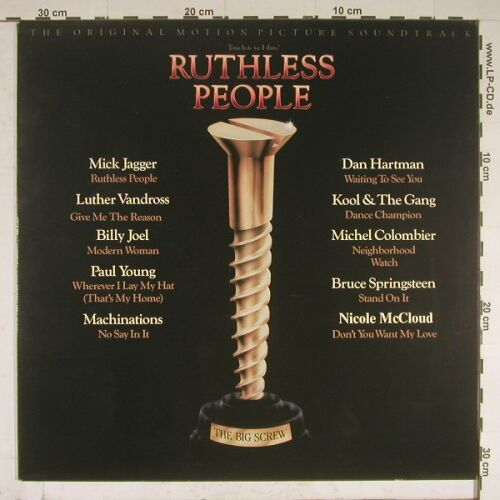 Ruthless People: Original Soundtrack, Epic(70299), NL, 86 - LP - A9733 - 7,50 Euro