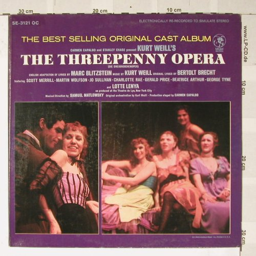 Threepenny Opera, the: Original off Broadway cast Album, MGM(SE-3121OC), D,  - LP - B2907 - 6,00 Euro