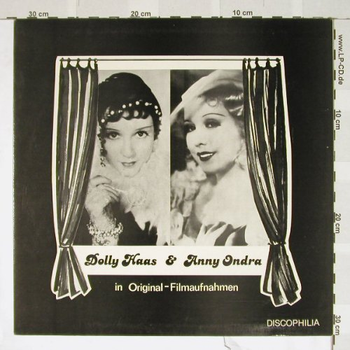 Haas,Dolly & Anny Ondra: in Original-Filmaufnahmen, Discophili(DIS 265), D, 79 - LP - B3757 - 7,50 Euro