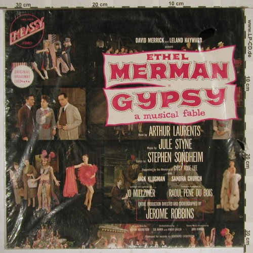 Gypsy - Ethel Merman: Original Cast recording, FS-New, Embassy(31025), D, Ri, 73 - LP - B4350 - 6,00 Euro