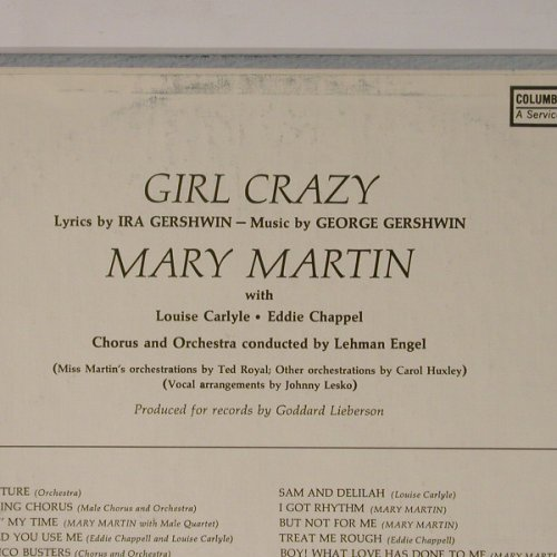 Martin,Mary: In Gershwin's Girl Crazy, Columb.CSP(COS 2560), US, 73 - LP - B5230 - 6,00 Euro