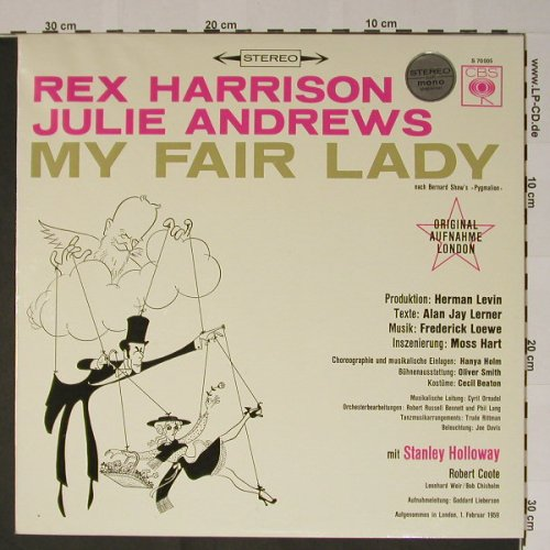 My Fair Lady: Julie Andrews/R.Harrison,LondonCast, CBS(S 70005), D,  - LP - B5240 - 5,00 Euro