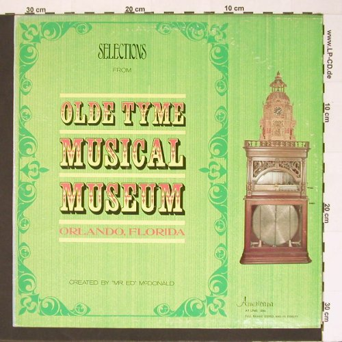 Old Tyme Musical Museum: Orlando,Florida,Select.from,, Americana(AR LPMS 2050), US, 70 - LP - B7059 - 6,00 Euro