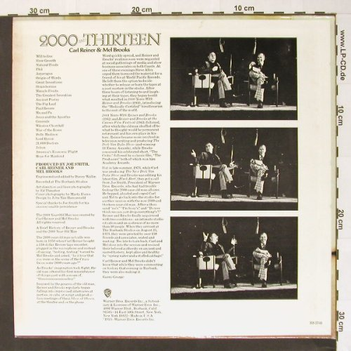 Reiner,Carl & Mel Brooks: 2000 and Thirteen, m-/vg+, WB(BS 2741), US, 73 - LP - B7541 - 9,00 Euro