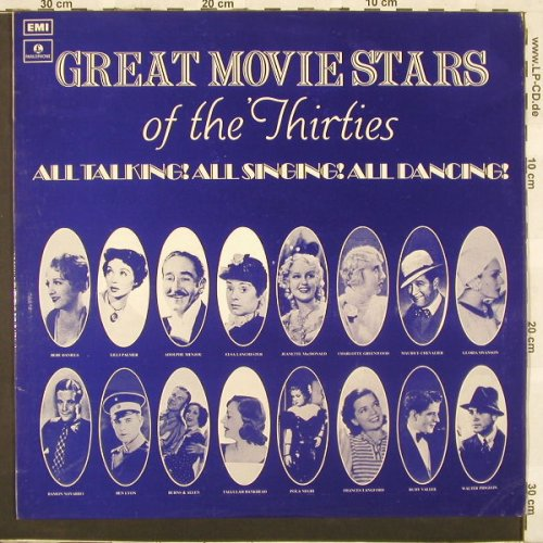 V.A.Great Movie Stars Of The 30's: All Talking!All Singing!All Dancing, Parloph.(PMC 7141), UK, 71 - LP - C1652 - 7,50 Euro