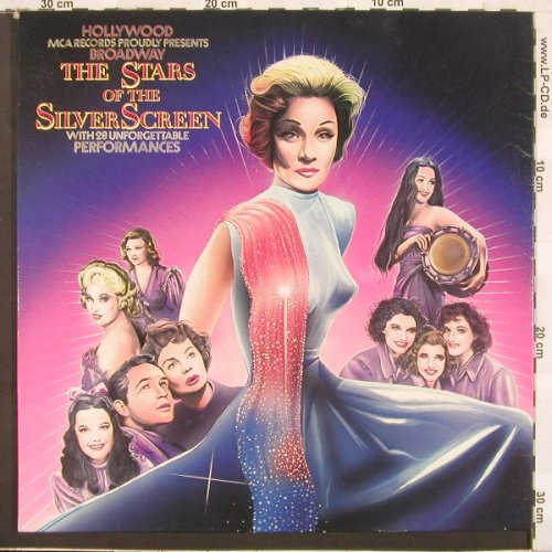 V.A.Stars Of The Silver Screen: M.Dietrich, G.Rogers, J.Lewis u.a., MCA(6.28344), D, 75 - 2LP - C1794 - 9,00 Euro