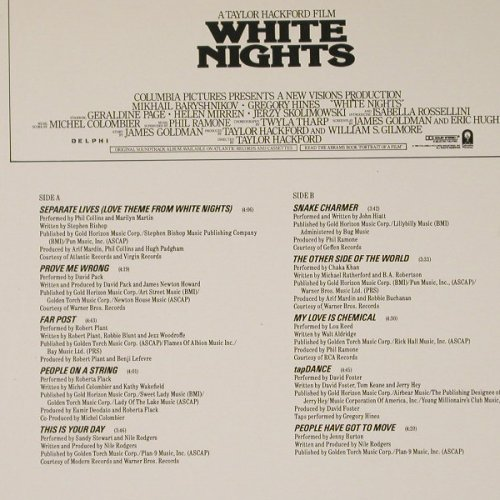 White Nights: 10 Tr. V.A., co, Atlantic(), US, 85 - LP - C1914 - 5,50 Euro
