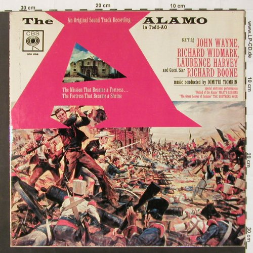 The Alamo: John Wayne,R.Widmark..,badcondition, CBS(BPG 62048), UK,vg+/vg+,  - LP - C2130 - 3,00 Euro