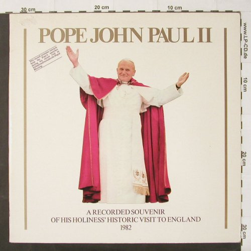 Pope John Paul 2: Historic visit to England, Foc, Event Rec(EV 001), UK, m-/vg+, 1982 - LP - C2470 - 6,00 Euro