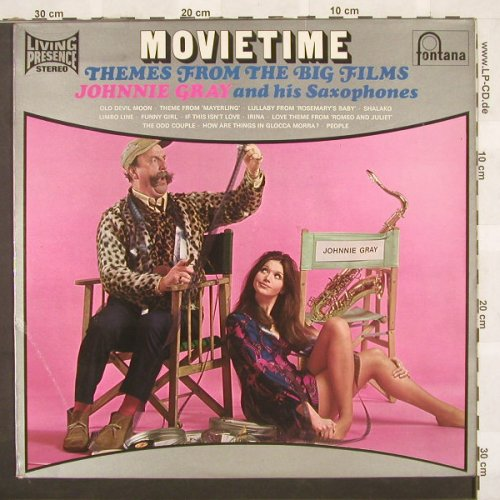 V.A.Movietime: Johnnie Gray & his Saxophones,12 Tr, Fontana(LPS 16260), UK, 69 - LP - C258 - 5,00 Euro