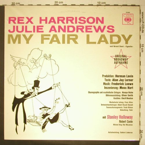 My Fair Lady: Rex Harrison, Julie Andrews(Mono), CBS(70 005), D,  - LP - C5338 - 5,00 Euro