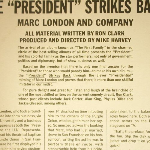 London,Marc and Company: The President Strikes Back!, London(HA-R 8055), UK-Mono, 1962 - LP - C5412 - 7,50 Euro