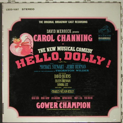 Hello Dolly: The Original Broadway CastRecording, RCA(LSOD-1087), US, Foc,FS, 64 - LP - C6613 - 9,00 Euro