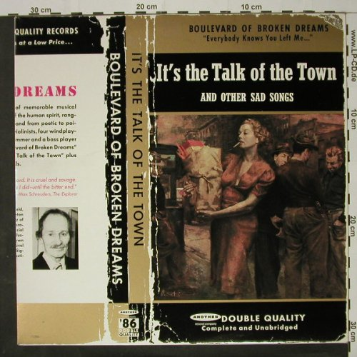 Boulevard Of Broken Dream: It's The Talk Of The Town+Newspaper, WEA(EFA 5230), D, 1985 - LP - C8418 - 6,00 Euro