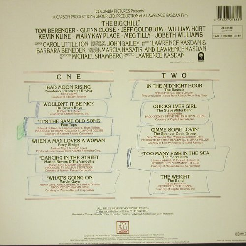 Big Chill: More Songs From OST, V.A. woc, Motown(ZL 72188), D, 1984 - LP - C8556 - 3,00 Euro