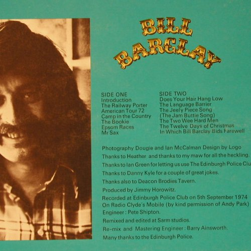 Barclay,Bill: Almost Live, m-/vg+, GM Rec.(GML 1016), UK, 1974 - LP - C8845 - 6,00 Euro
