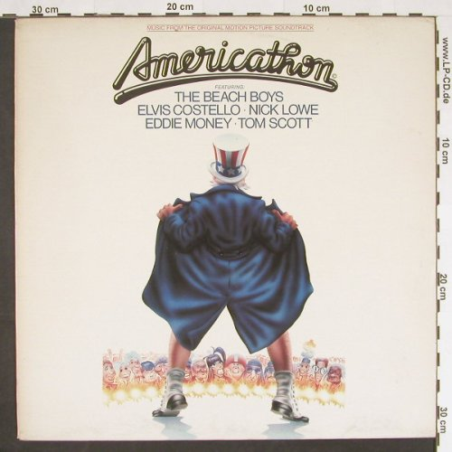 Americathon: Beach Boys..Tom Scott,Stamp o.Cover, Lorimar(70172), NL,Promo, 1979 - LP - C9308 - 4,00 Euro