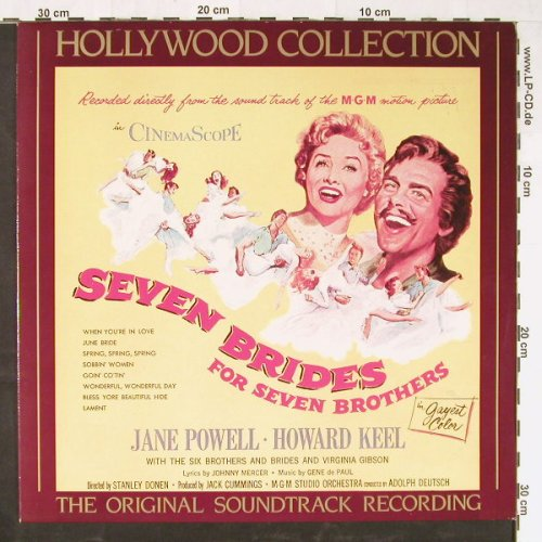 Seven Brides For Seven Brothers: Orig.Soundtr.'54, CBS(450232 1), NL, 1982 - LP - E1582 - 5,00 Euro