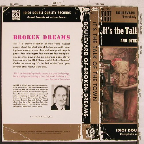 Boulevard Of Broken Dream: It's the Talk Of The Town, WEA(EFA 5230), D, 1985 - LP - E1677 - 5,00 Euro