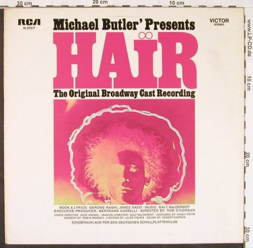 Hair - Michael Butler pres.: Original Broadway Cast, RCA, Club Ed.(H 272/7), D,  - LP - E2178 - 5,00 Euro