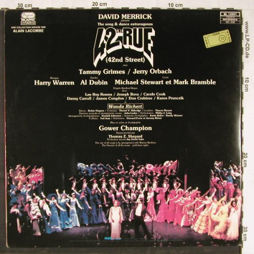 42nd Street: Broadway Cast, Foc, RCA(BL 13891), F, 1980 - LP - E3132 - 5,00 Euro