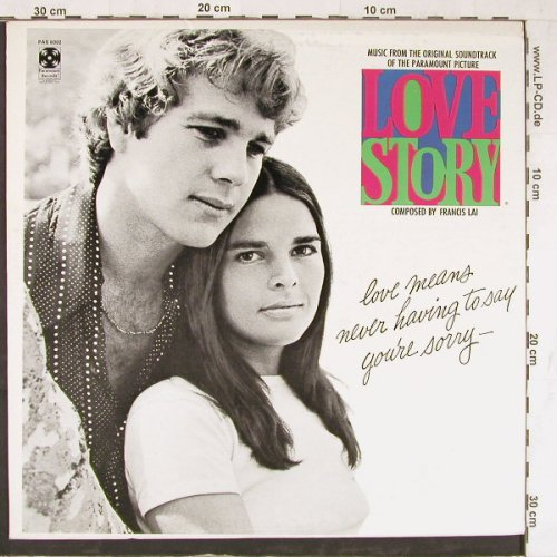 Love Story: Music From, Paramount(SW 93442), US,  - LP - E4355 - 5,00 Euro