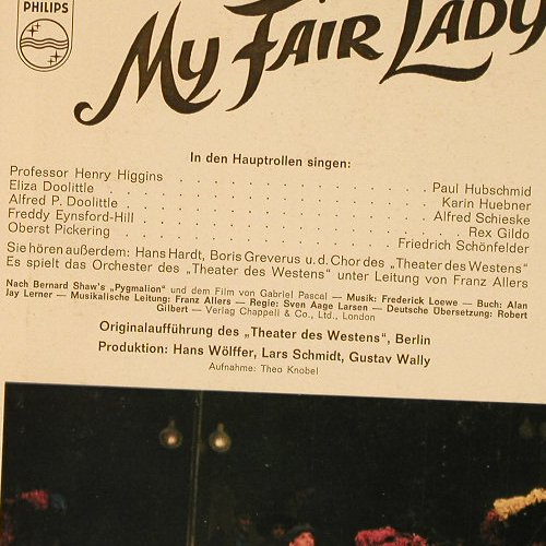 My Fair Lady: Origin.Theater d.Westens, Philips(S 08 644 L), D, Mono,  - LP - E5504 - 6,50 Euro