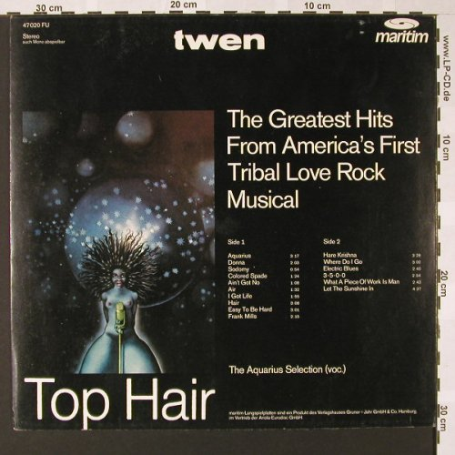 Hair - The Aquarius Selection(voc): Top Hair, Twen Serie, Maritim(47 020 FU), D,  - LP - E7033 - 9,00 Euro
