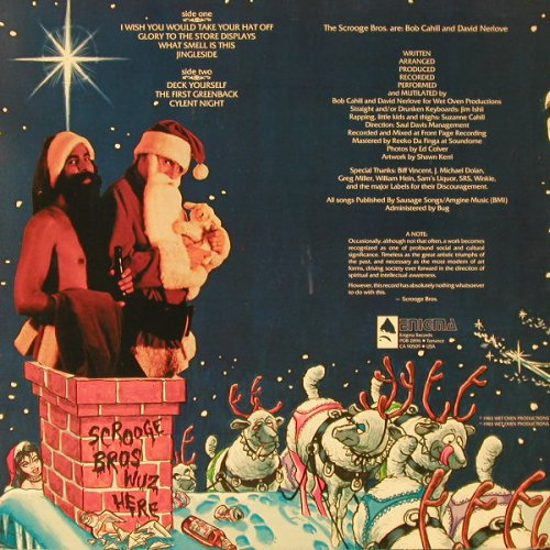 Scrooge Bros.: Commercial Christmas(Comedy), Enigma(E1043), US, 1983 - LP - E8996 - 5,00 Euro