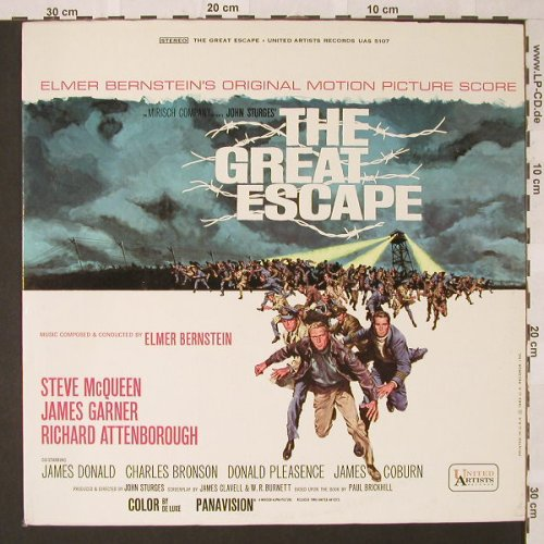 Great Escape,The: Soundtrack by Elmer Bernstein, United Artists(5107), US,  - LP - E9094 - 7,50 Euro