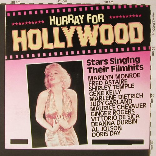 V.A.Hurray for Hollywood: Stars Singing their Film Hits, Astan(20106), D, 1984 - LP - E9398 - 4,00 Euro