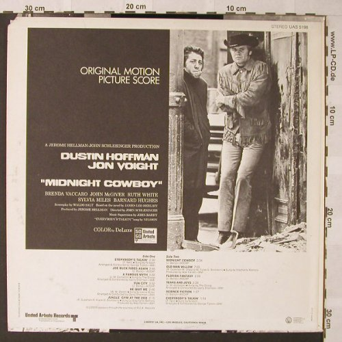 Midnight Cowboy: Original Soundtrack, co, UA(UAS 5198), US, 1969 - LP - F156 - 9,00 Euro