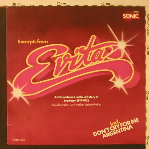 Evita: Excerpts From, co, Sonic(131 508.0), D,  - LP - F4582 - 5,00 Euro