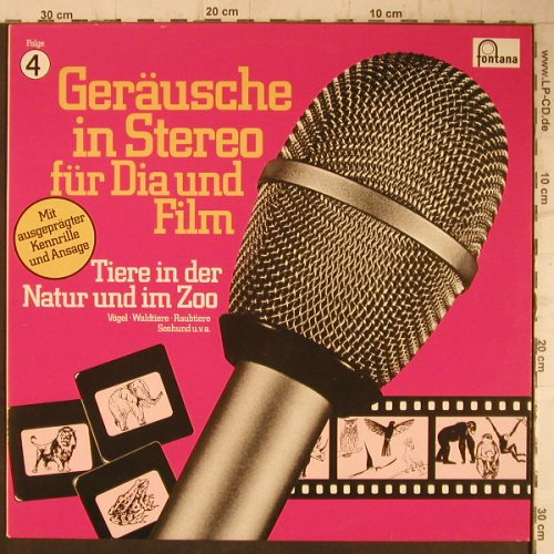 V.A.Geräusche In Stereo 4: Tiere In Der Natur & Im Zoo,44 Tr., Fontana(6484 013), D, 1979 - LP - F6026 - 6,00 Euro