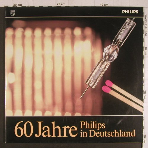 V.A.Philips: 60 Jahre in Deutshland, Foc,Booklet, Philips(0647 194/195), D,  - 2LP - F6200 - 6,00 Euro