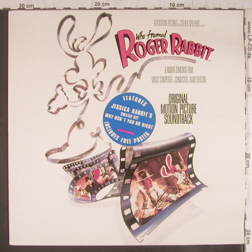 Roger Rabbit: Who Framed, +Poster,Cover wellig, Touchstone(TCH 463059 1), NL,m/vg+, 1988 - LP - F6341 - 4,00 Euro