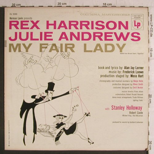 My Fair Lady: Rex Harrison, Julie Andrews(Mono), Columbia Masterwork(OL 5090), US, vg+/m-,  - LP - F6874 - 6,00 Euro