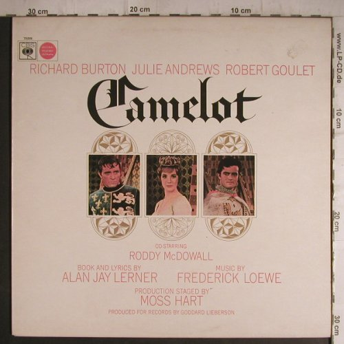Camelot: Richard Burton,J.Andrews,R.Goulet, CBS(70009), UK, 1960 - LP - F7161 - 9,00 Euro