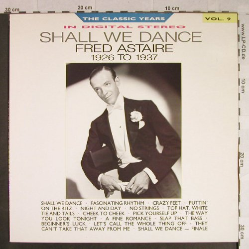 Astaire,Fred: Vol.9 - Shall we Dance,1926 to 1937, BBC(REB 665), UK, 1987 - LP - H1102 - 5,50 Euro