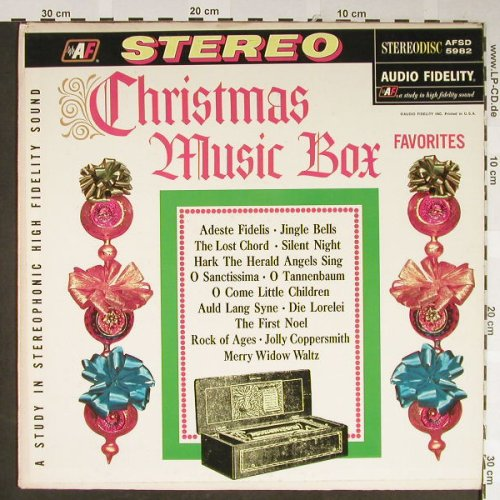 V.A.Christmas Music Box Favorites: Paul Eakins Gay 90's Village Coll., Audio Fidelity(AFSD 5982), US,vg+/vg+,  - LP - H2117 - 4,00 Euro