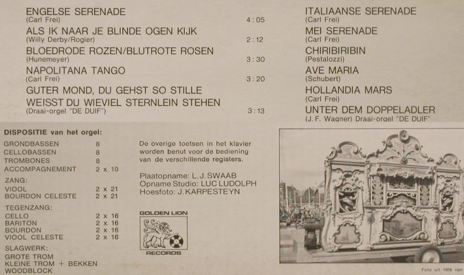 De Zeventiger: Dutch Barrel-Organ, Golden Lion(T-10 000), NL,  - LP - H2535 - 6,00 Euro