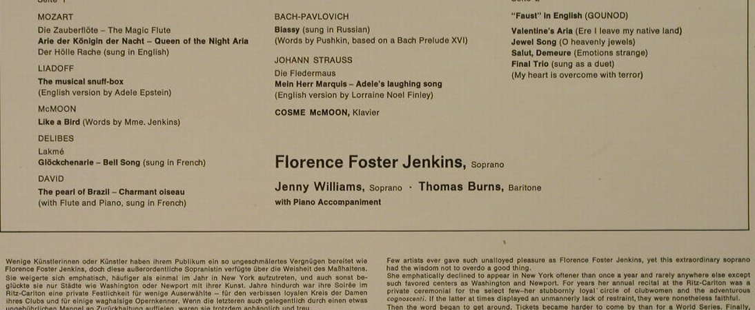 Foster Jenkins,Florence: The Glory(????)of Human Voice'62,Ri, RCA Victrola(26.41003), D, 1970 - LP - H2713 - 5,00 Euro