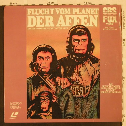 Planet der Affen - Flucht vom: Bildplatte Laser Vision, CBS-Fox(1187-73), UK, 1983 - Video - H2761 - 7,50 Euro