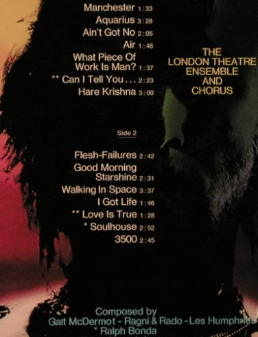 Hair: The London Theatre & Chorus, Somerset(693), D,  - LP - H2936 - 5,50 Euro