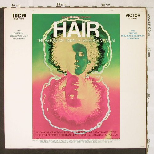 Hair: Original Broadway Cast, RCA Victor(LSO 1150), D,  - LP - H3298 - 6,00 Euro