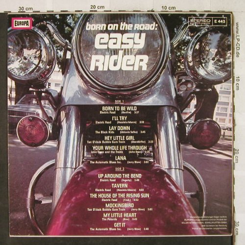 Easy Rider: Born On The Road, V.A., Europa(E 443), D,  - LP - H3604 - 7,50 Euro