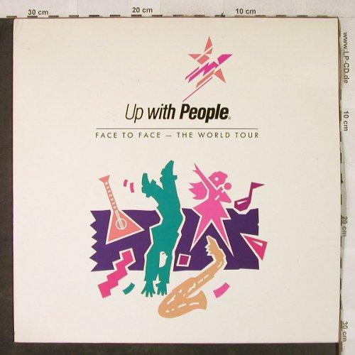 Up with People: Face to Face-The World Tour, m-/vg+, UpWithPeople(1161), NL, woc, 1989 - LP - H3977 - 6,00 Euro