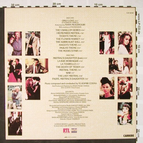 Mistral's Daughter: by Vladimir Cosma,Nana Mouskouri, Carrere/RTL(CAR 66180), F, 1985 - LP - H4058 - 5,50 Euro